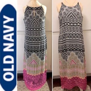 Old Navy Artisan Boho Pattern Maxi Dress